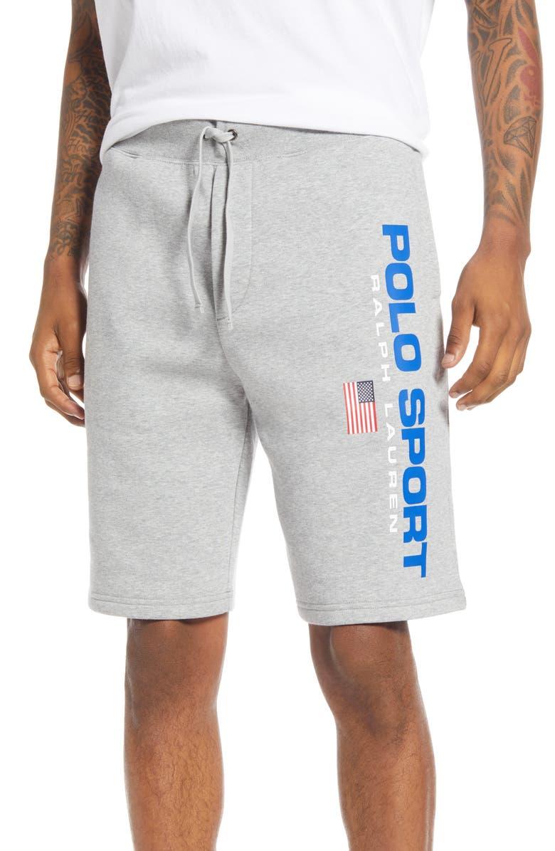 POLO RALPH LAUREN Polo Sport Fleece Athletic Shorts, Main, color, ANDOVER HEATHER