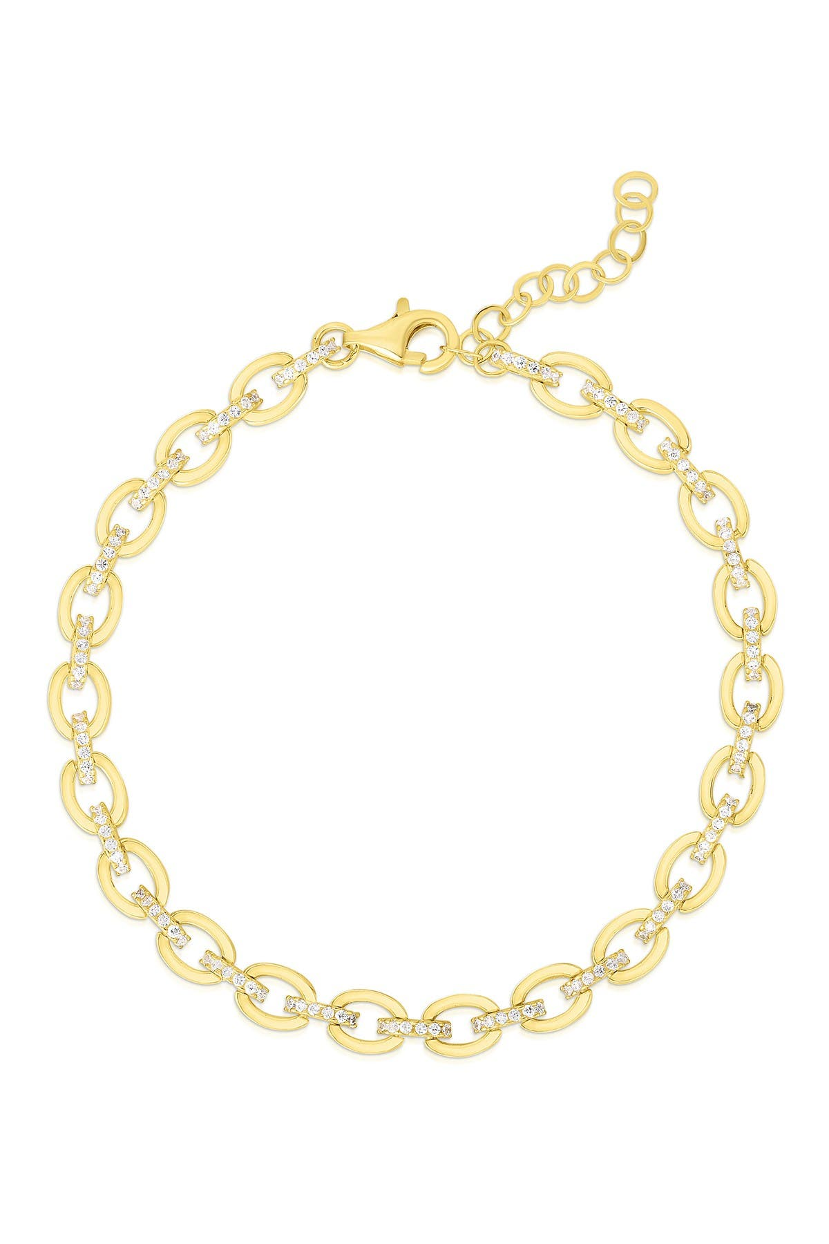Image of Sphera Milano Gold Vermeil Link Bracelet