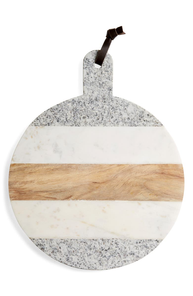 NORDSTROM AT HOME Marble, Wood & Granite Round Board, Main, color, 020
