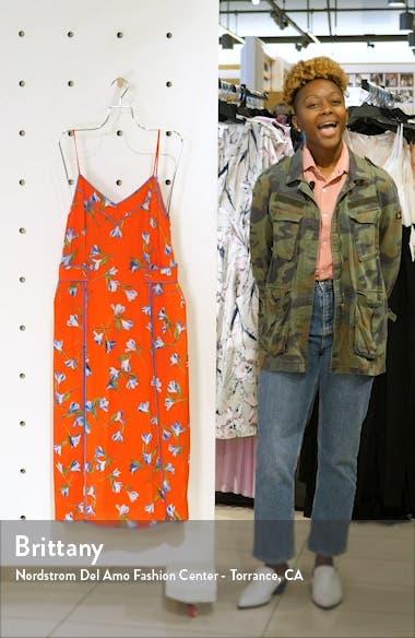 Hugo Piped Floral Midi Dress, sales video thumbnail