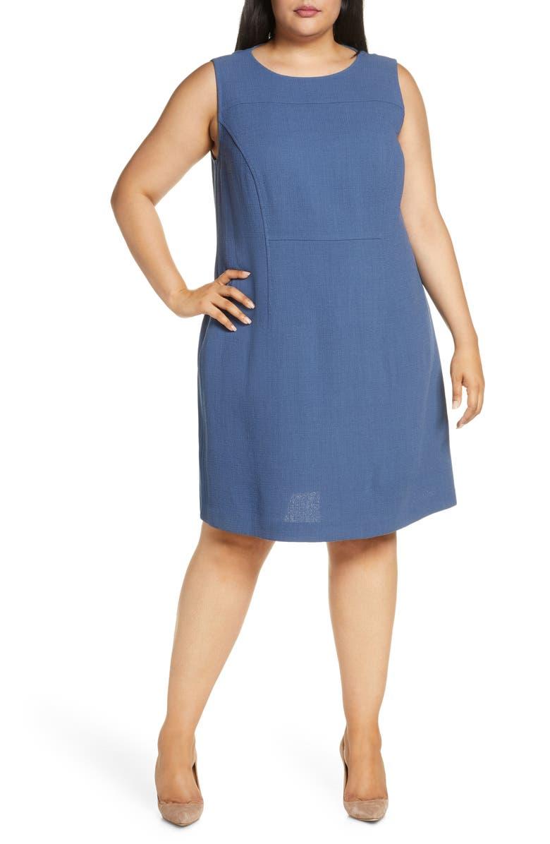 LAFAYETTE 148 NEW YORK Jojo Wool Crepe Sheath Dress, Main, color, PERI