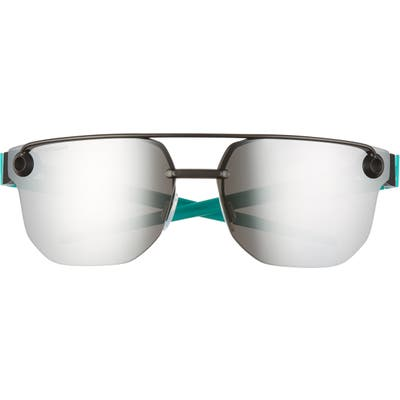 Oakley Chrystl(TM) 5m Rimless Sunglasses - Matte Black/ Prizm Black