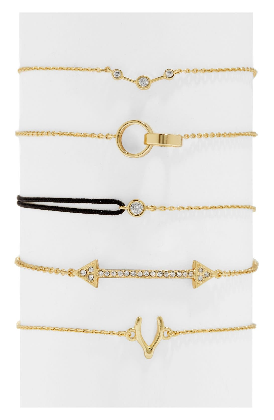 Shay Mitchell - Guest Bartender Collection Sojourn Set of 5 Charm Bracelets, Main, color, 710