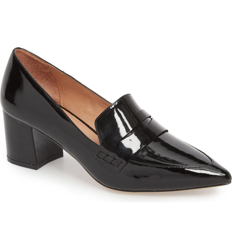 HALOGEN<SUP>®</SUP> Isabelle Pointy Toe Pump, Main, color, BLACK PATENT LEATHER