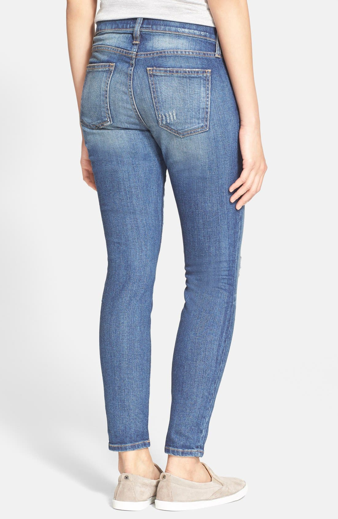 ,                             'The Stiletto' Destroyed Skinny Jeans,                             Alternate thumbnail 13, color,                             461