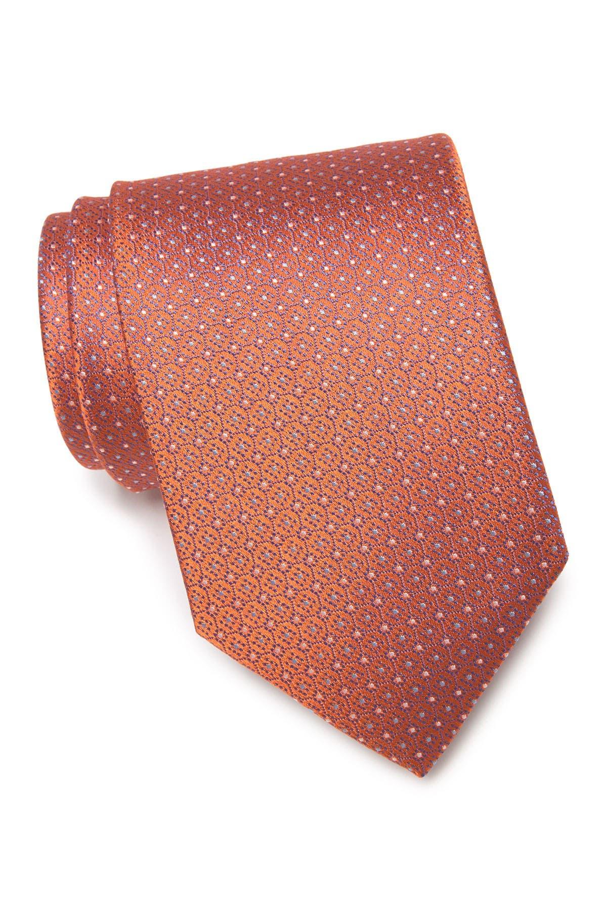 Image of Eton Circle Dots Silk Tie