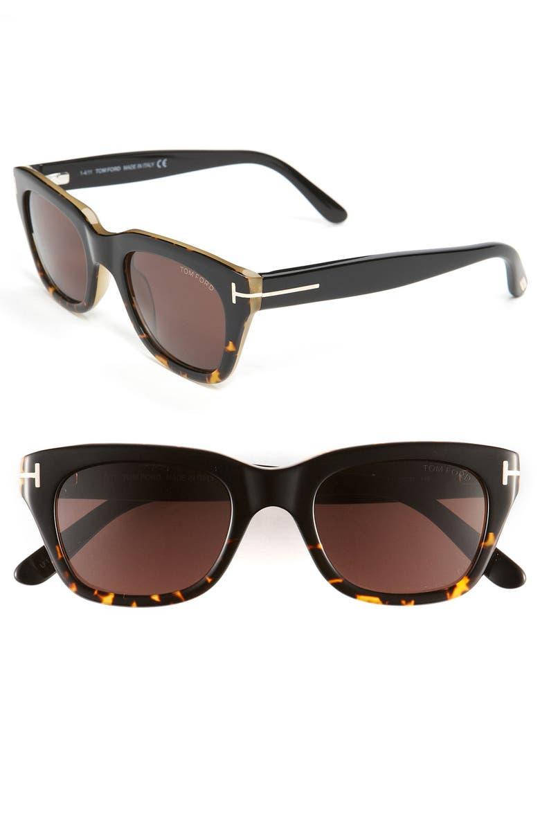 TOM FORD Retro Inspired 50mm Sunglasses, Main, color, 200
