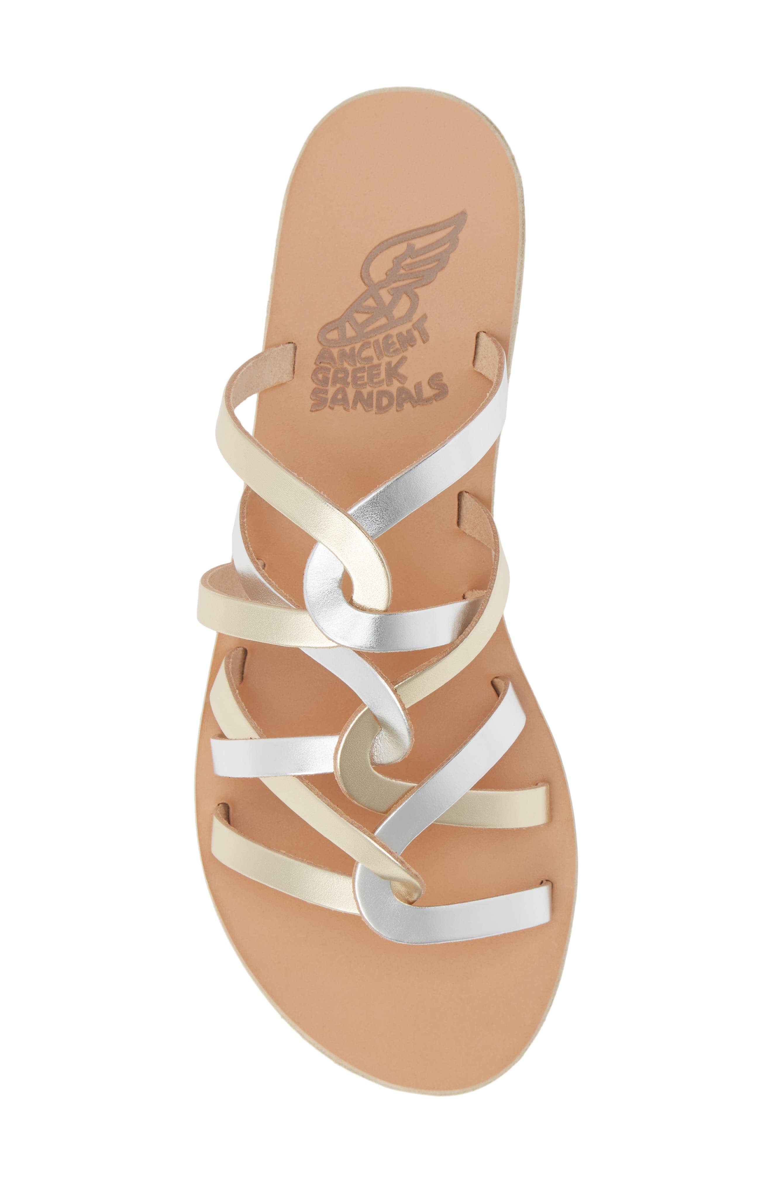 ,                             Donousa Slide Sandal,                             Alternate thumbnail 6, color,                             SILVER/ PLATINUM