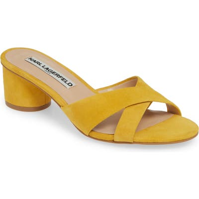 Karl Lagerfeld Paris Fawn Slide Sandal, Yellow