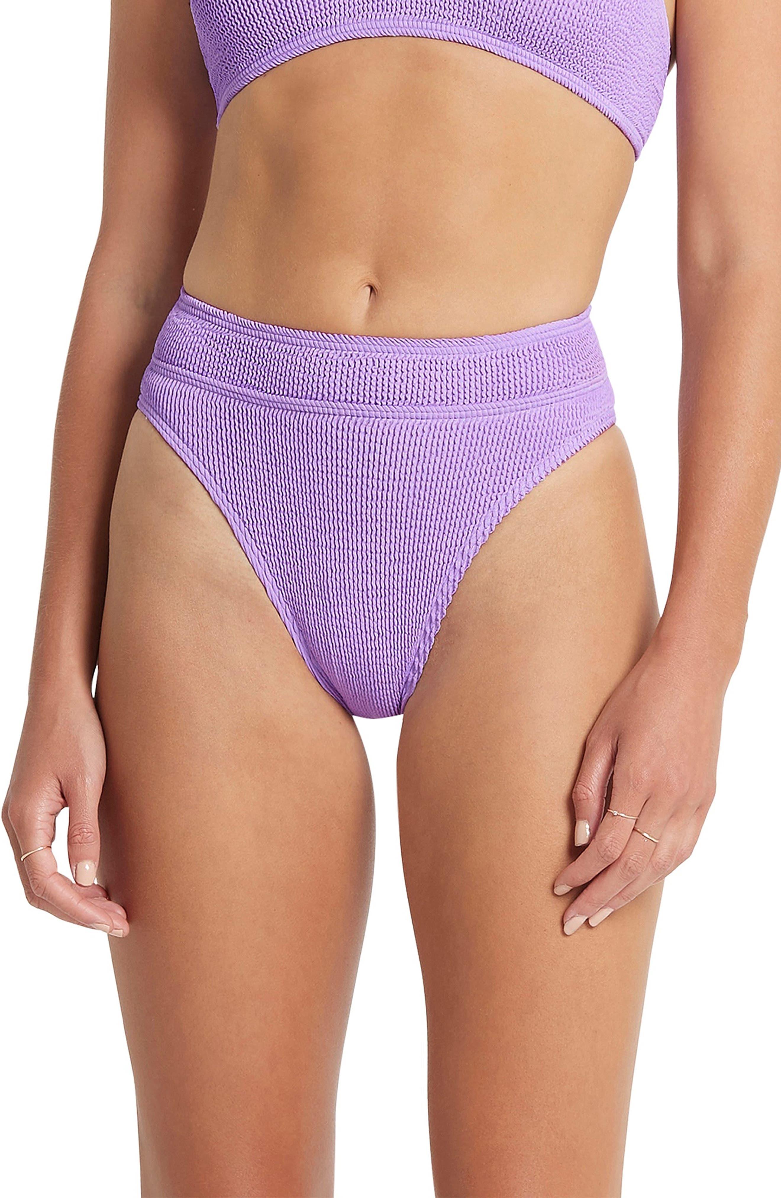 The Savannah High-Waist Ribbed Bikini Bottoms