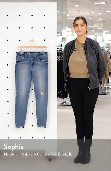 Connie High Waist Destroyed Hem Ankle Skinny Jeans, sales video thumbnail