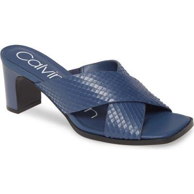Calvin Klein Dylan Armatura Slide Sandal- Blue