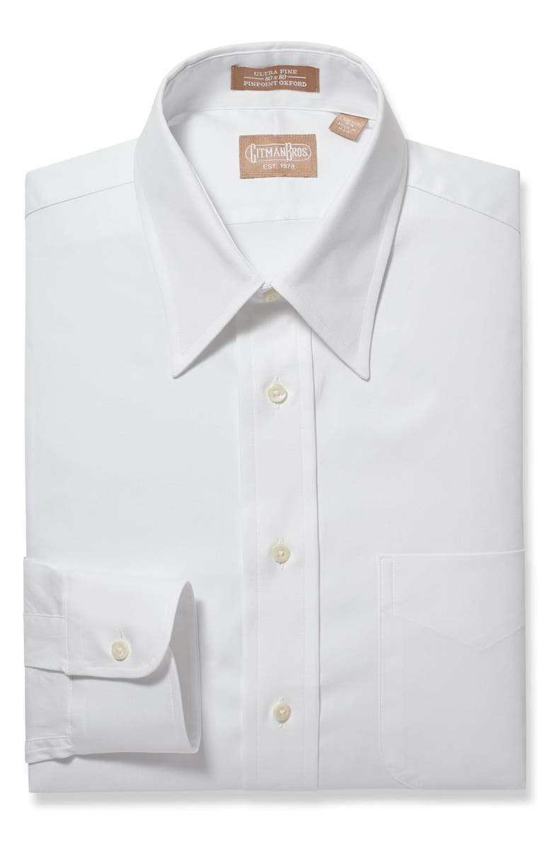 GITMAN Regular Fit Solid Dress Shirt, Main, color, 100