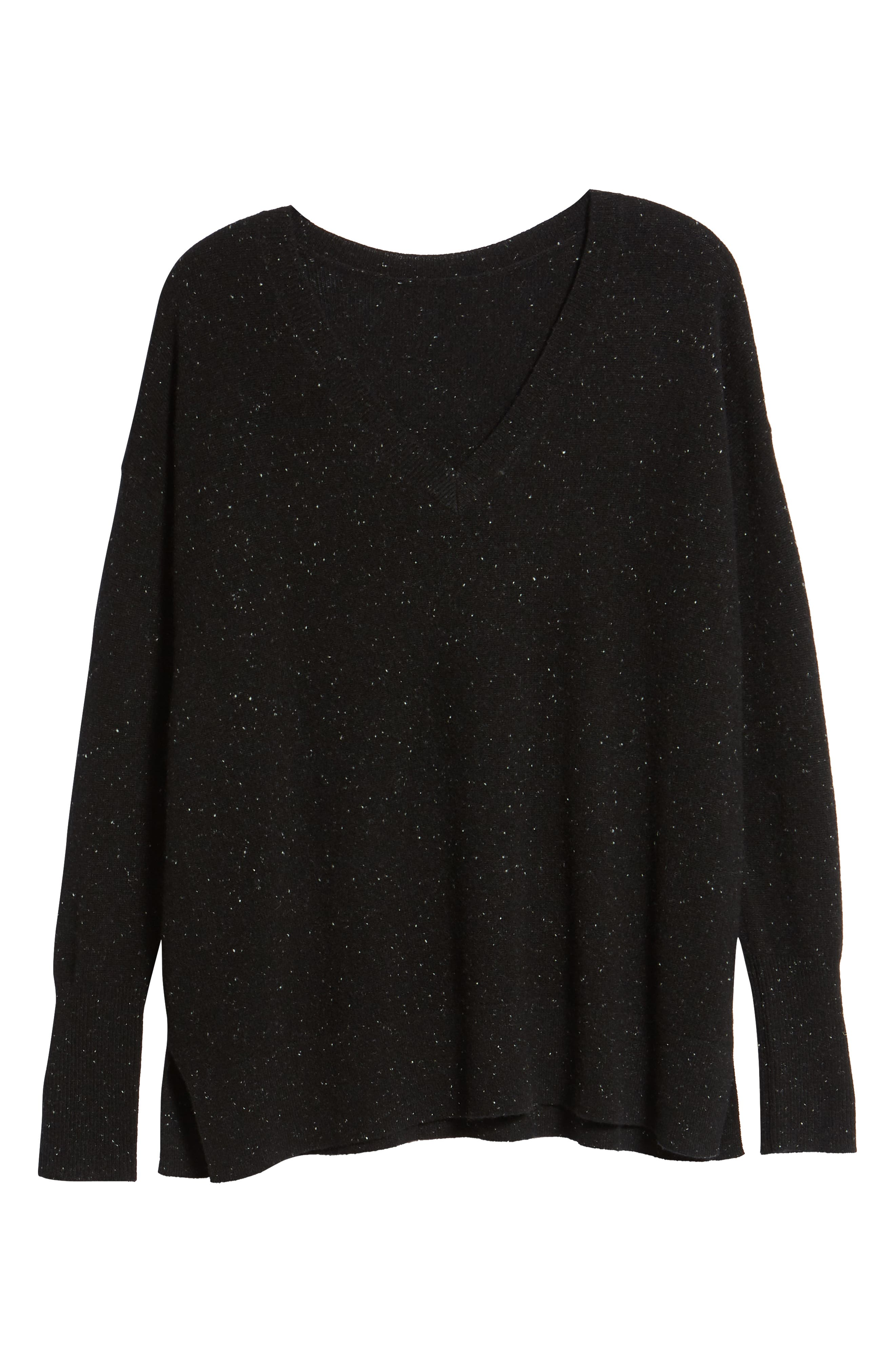 ,                             Relaxed V-Neck Cashmere Sweater,                             Alternate thumbnail 27, color,                             003