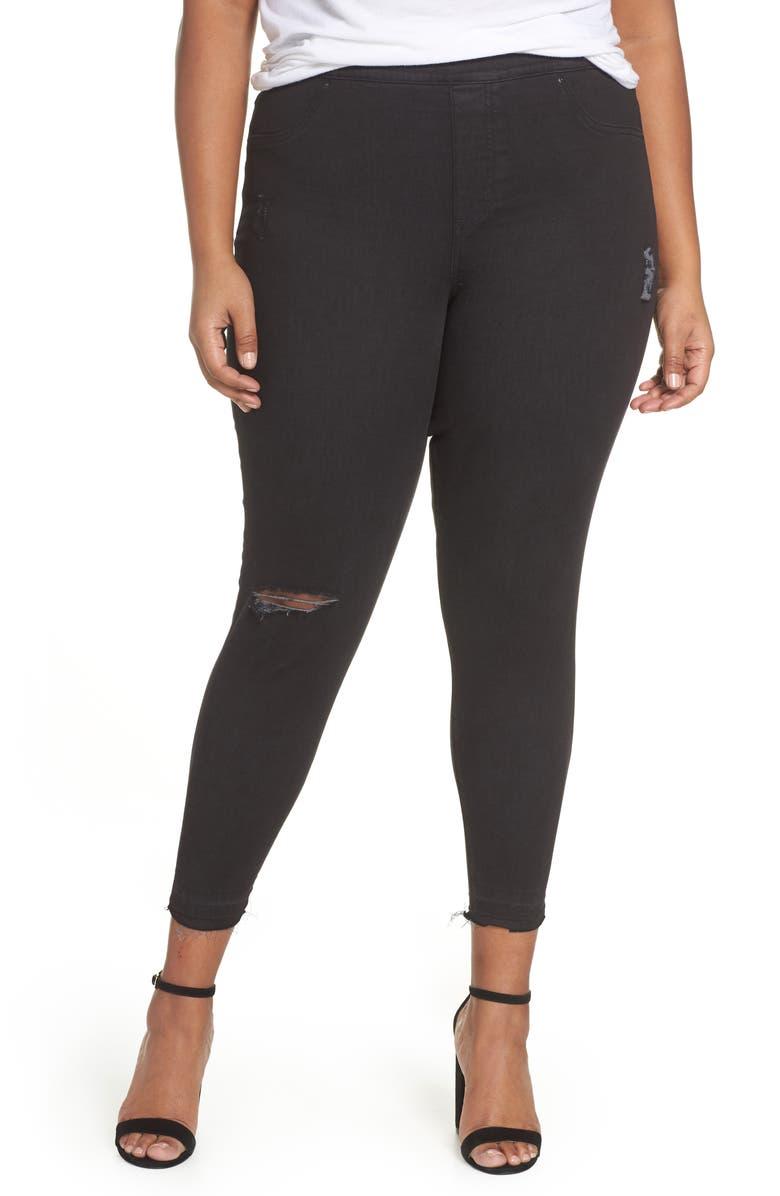 highly coveted range of hot sales enjoy free shipping Distressed Skinny Denim Leggings
