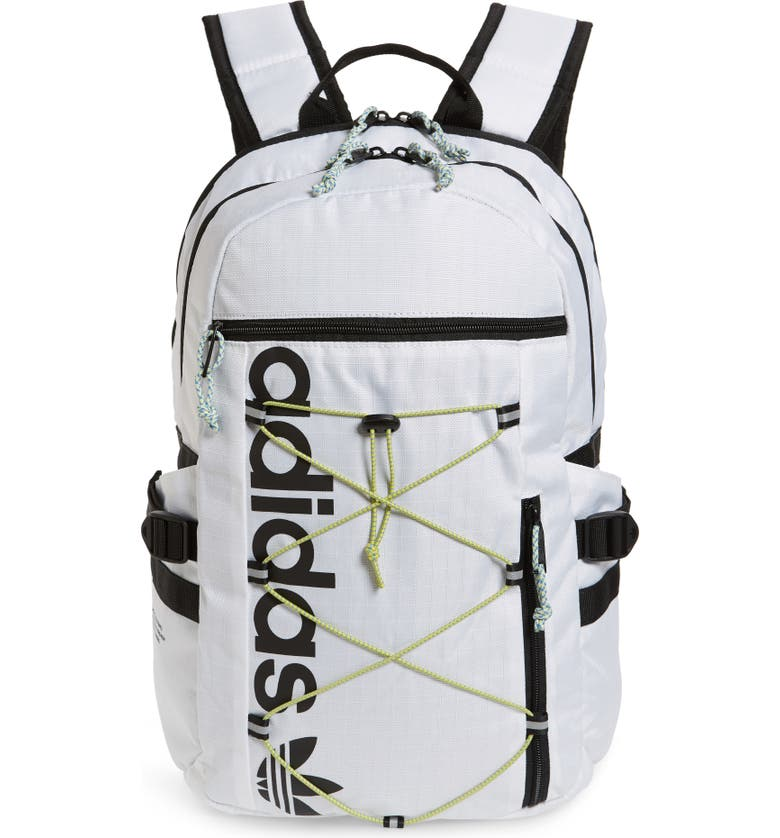ADIDAS ORIGINALS White Bungee Backpack, Main, color, 100