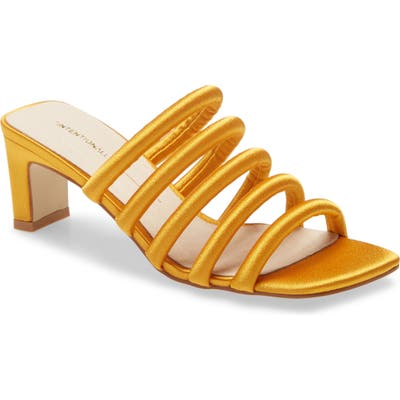 Intentionally Blank Willow Slide Sandal, Yellow