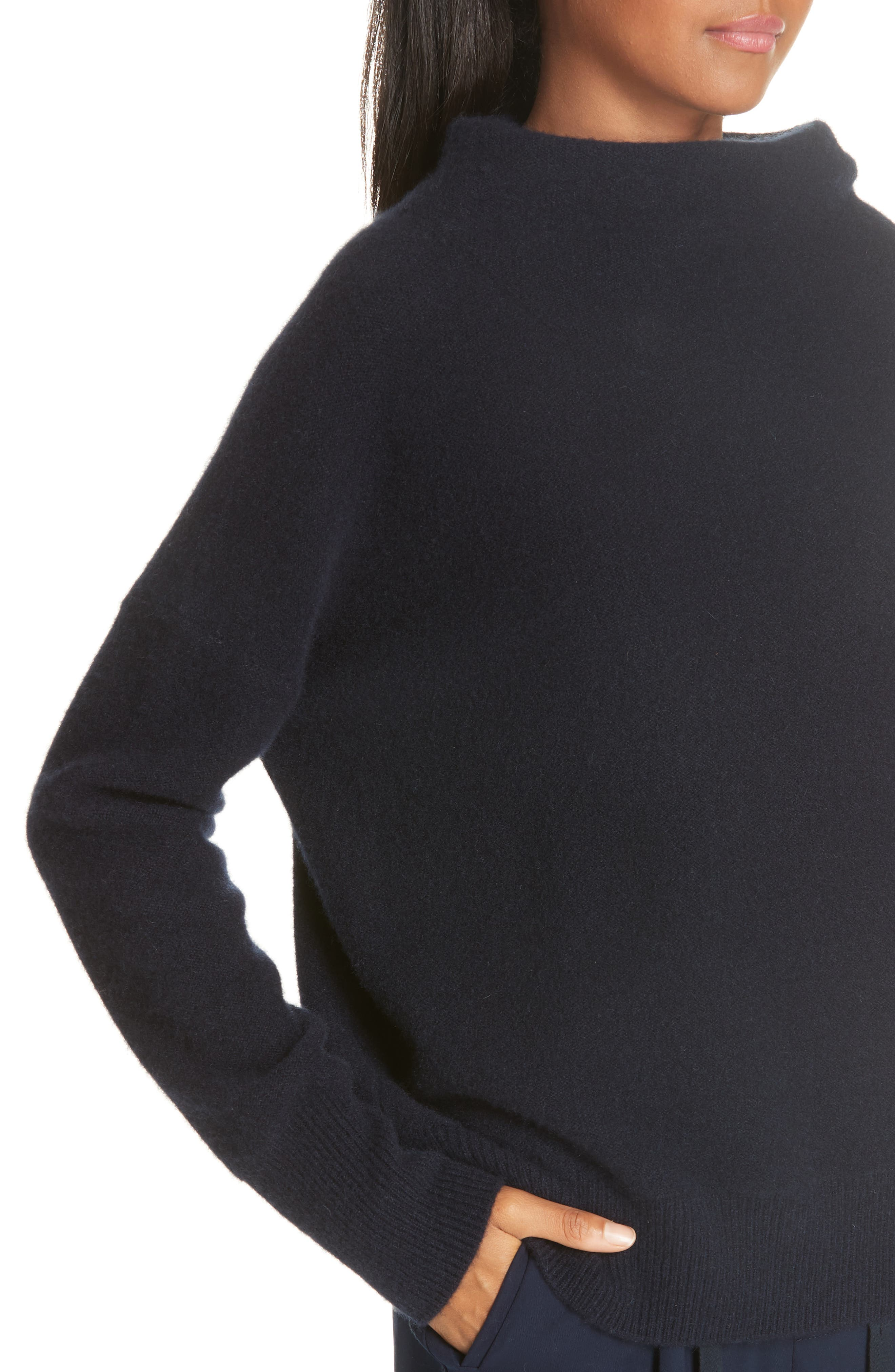 ,                             Funnel Neck Cashmere Sweater,                             Alternate thumbnail 11, color,                             403