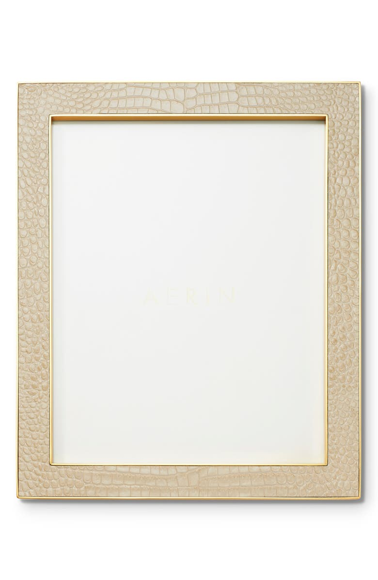 AERIN Classic Croc Embossed Picture Frame, Main, color, FAWN