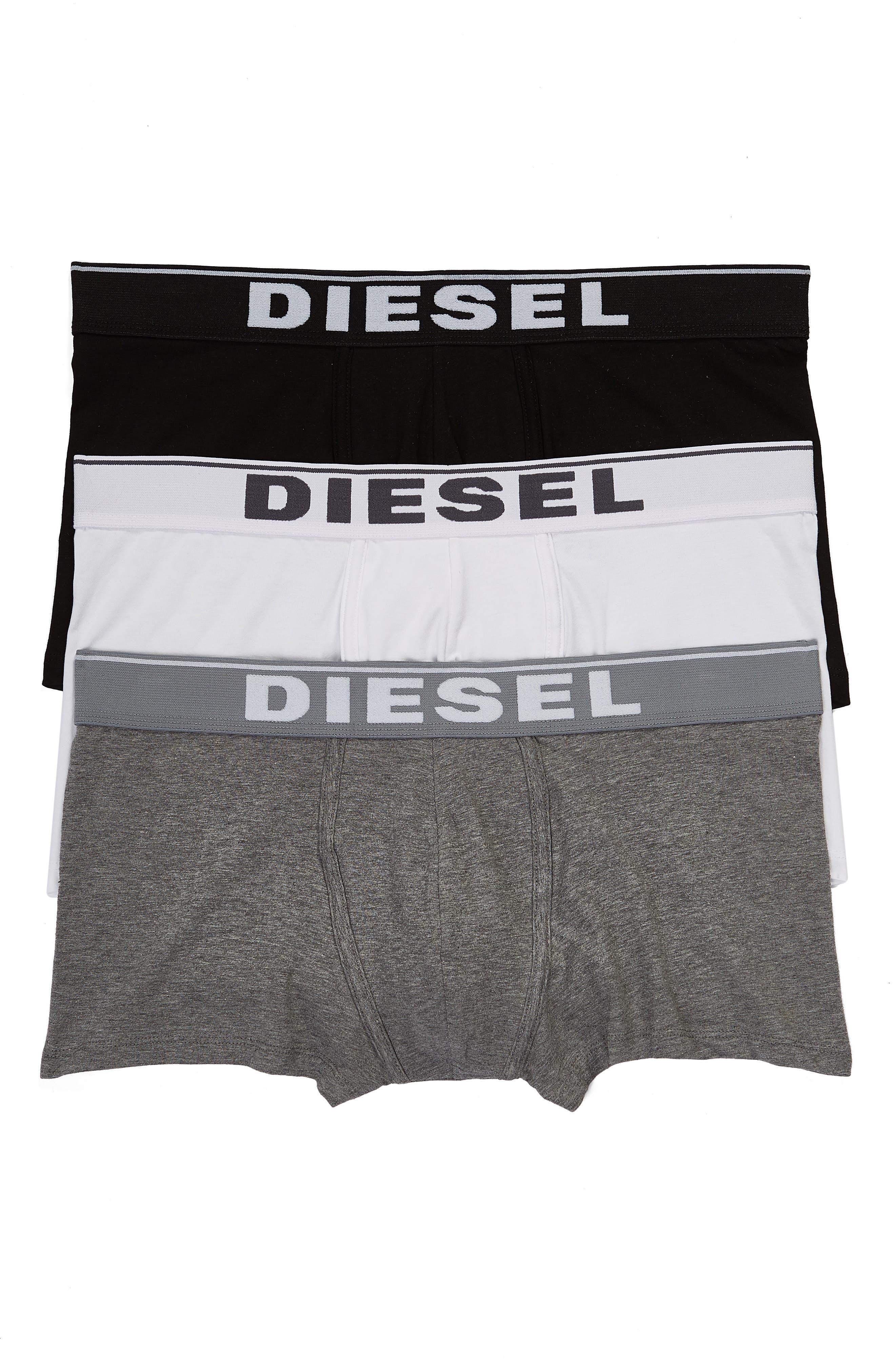 Men's Diesel Assorted 3-Pack Umbx-Damien Trunks