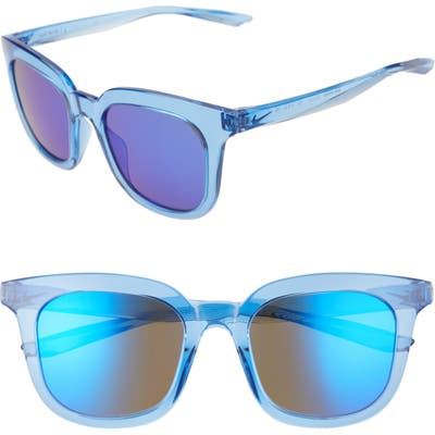 Nike Myriad 52Mm Mirrored Square Sunglasses - Pacific Blue/ Ultraviolet