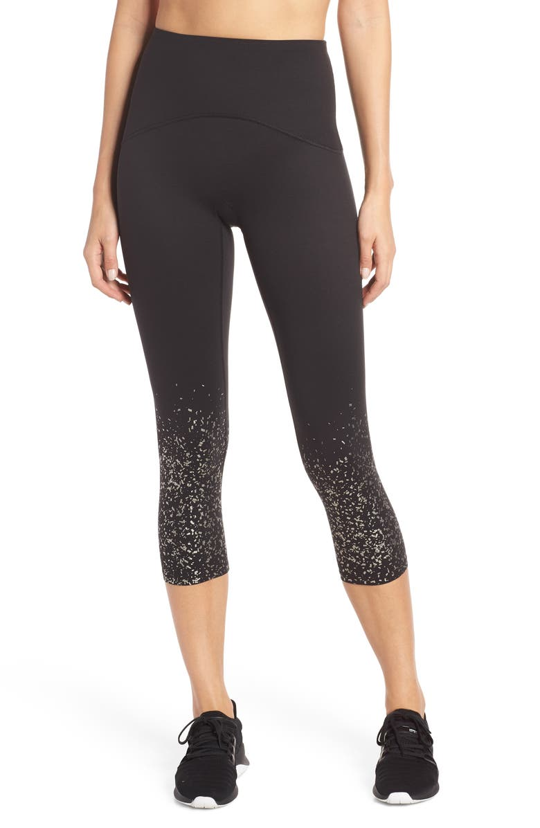 SPANX<SUP>®</SUP> Active Print Crop Leggings, Main, color, 003