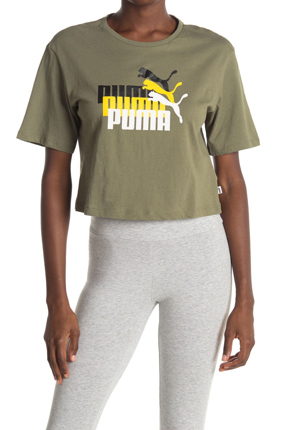 Image of PUMA Triple Threat Cropped Tee
