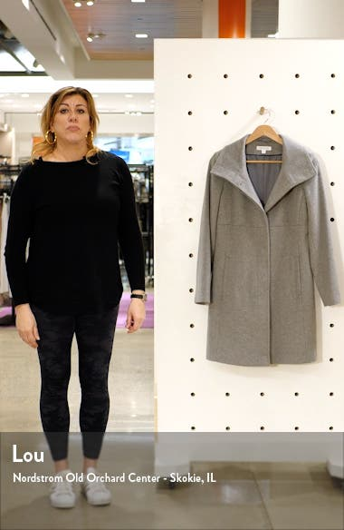 Stand Collar Wool Blend Coat, sales video thumbnail