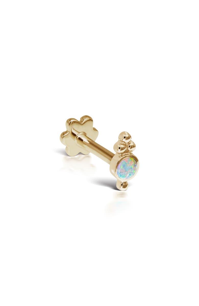 MARIA TASH Trinity Opal Threaded Stud Earring, Main, color, YELLOW GOLD