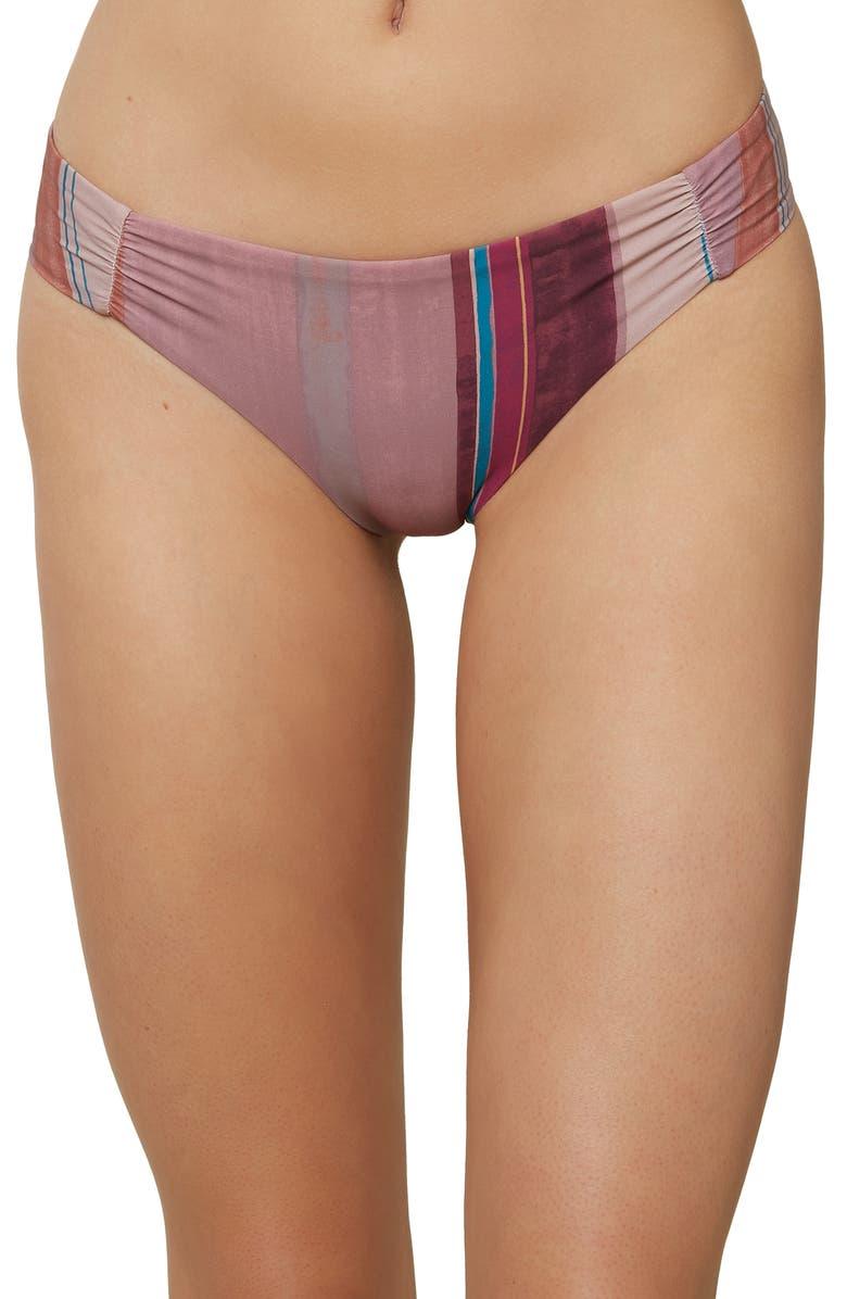 O'NEILL Jack Stripe Hipster Bikini Bottoms, Main, color, PURPLE MULTI