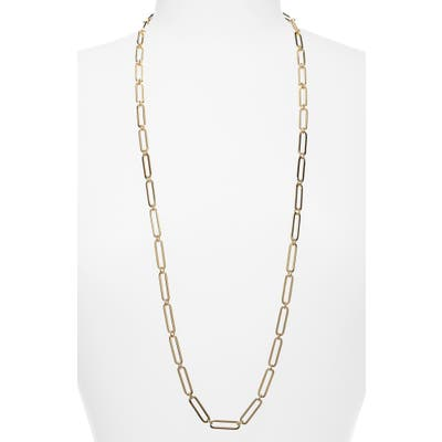 Halogen Long Linear Link Chain Necklace