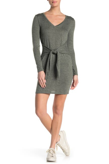 Image of BAILEY BLUE Tie Front Hacci Dress