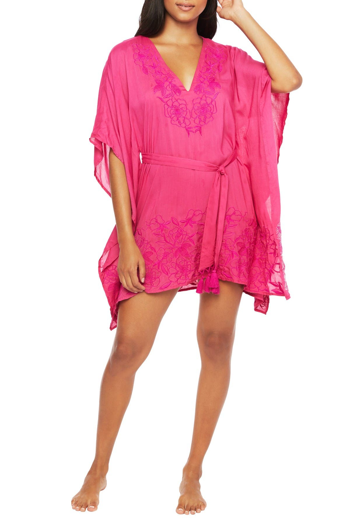 Image of Trina Turk Rio Embroidered Cover-Up Caftan