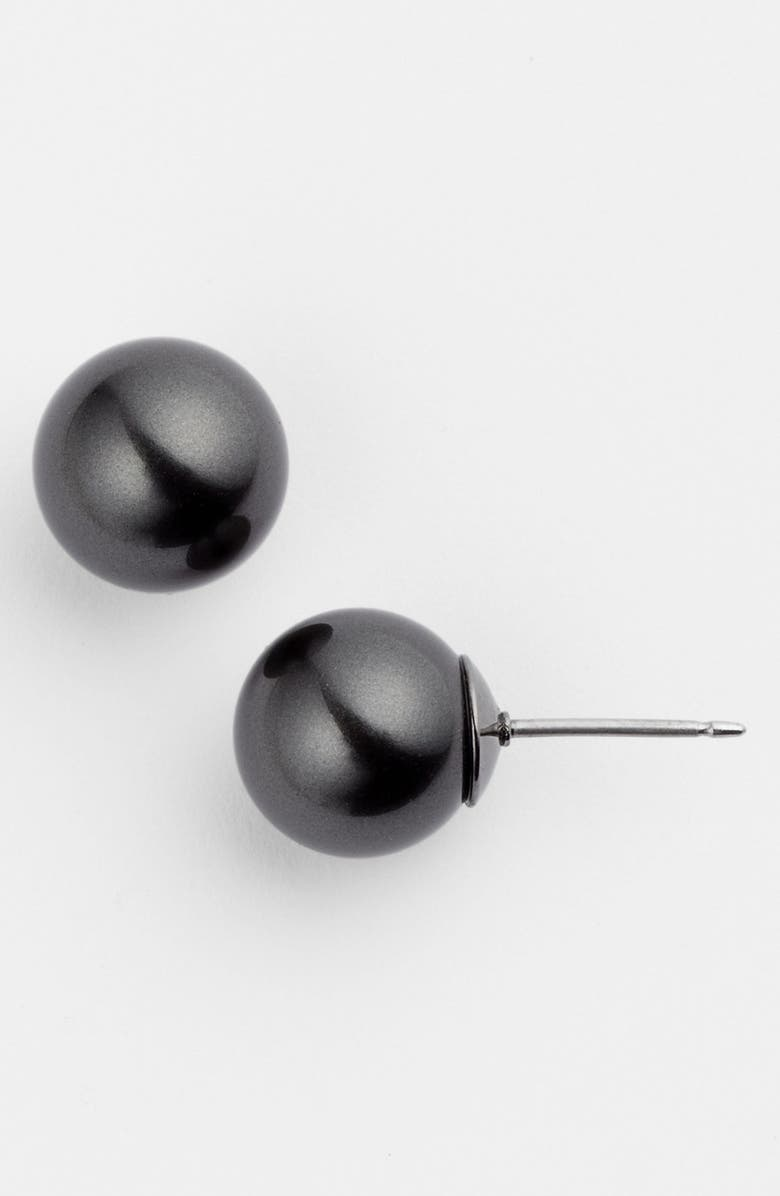 GIVENCHY 10mm Glass Pearl Stud Earrings, Main, color, 001