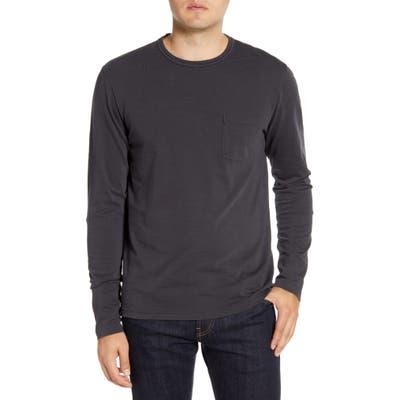 Faherty Long Sleeve Pocket T-Shirt, Black