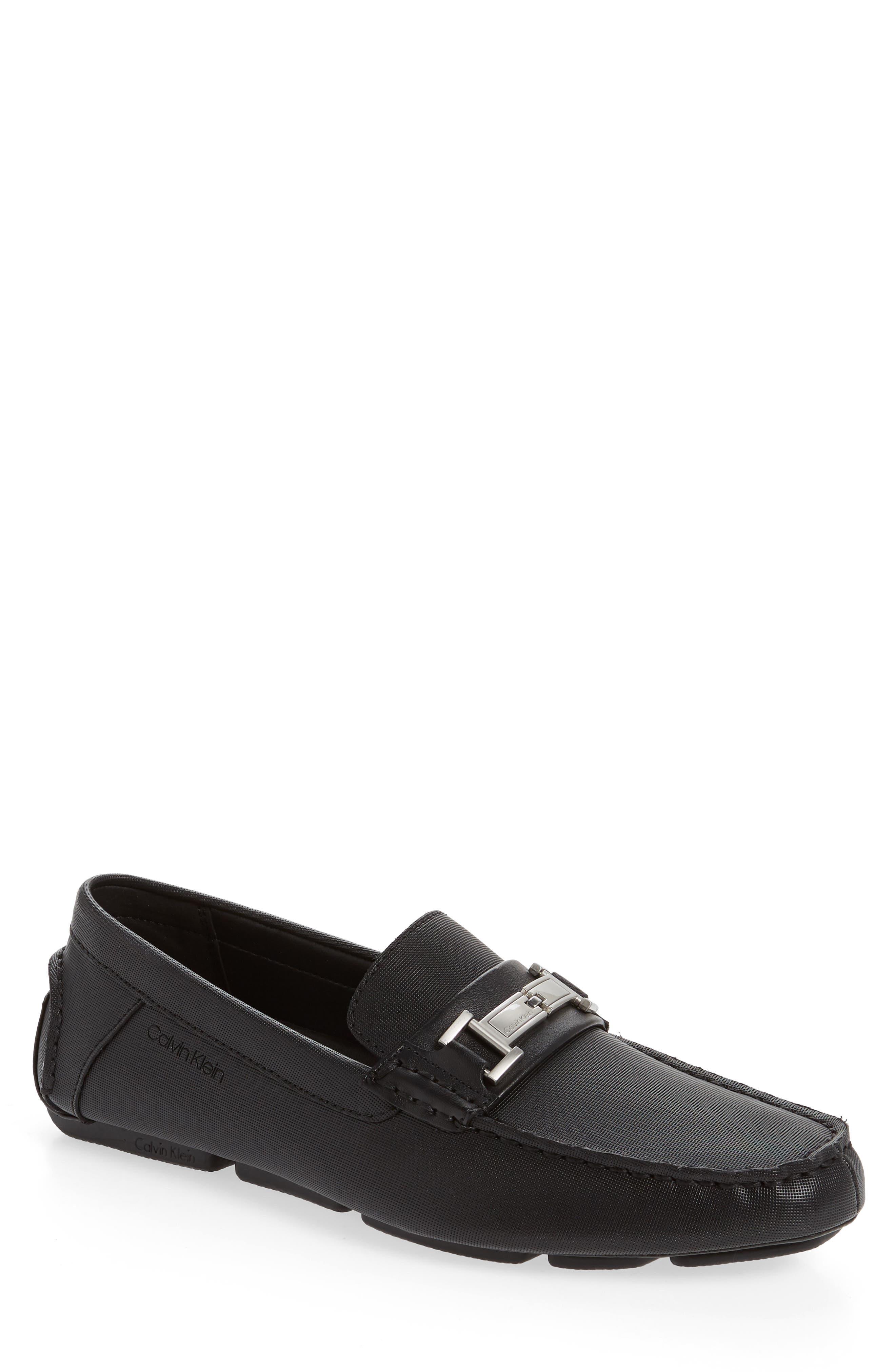 Magnus Driving Shoe, Main, color, BLACK LEATHER
