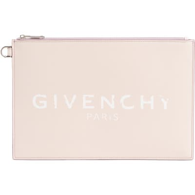Givenchy Medium Iconic Prints Coated Canvas Pouch - Pink