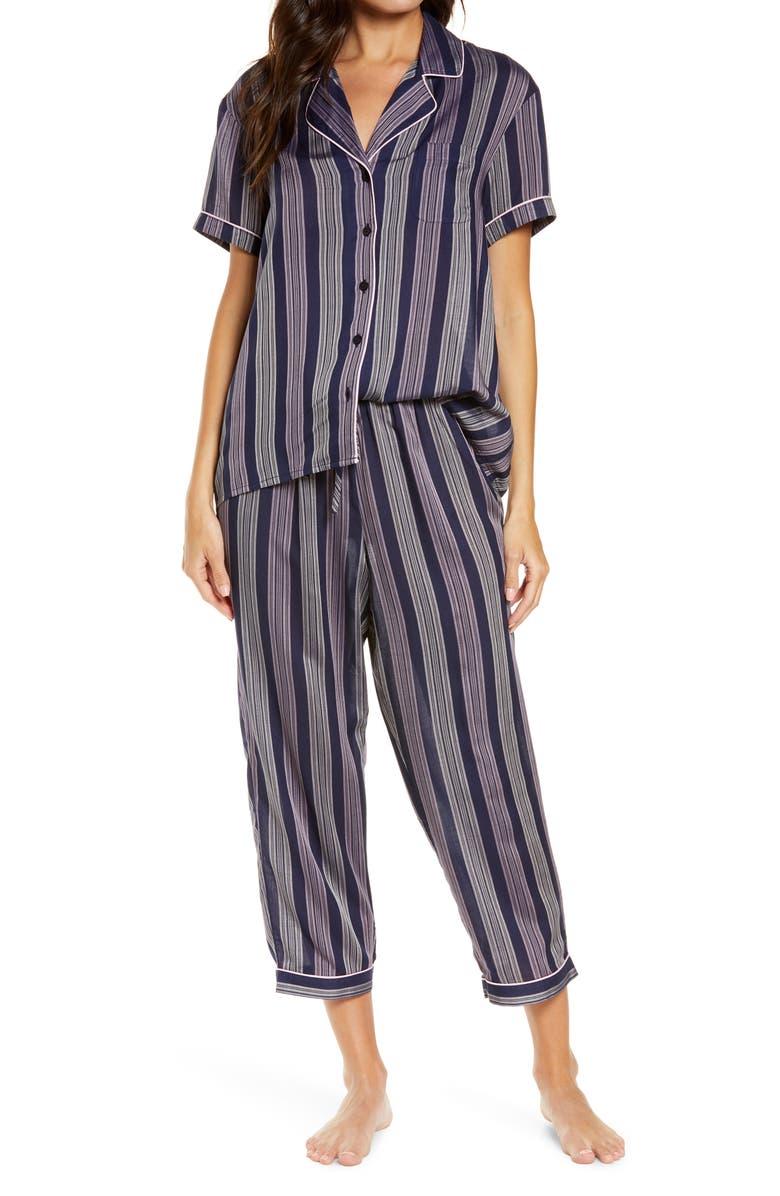 NORDSTROM Lingerie 'Sweet Dreams' Print Pajamas, Main, color, NAVY PEACOAT FRANKIE STRIPE