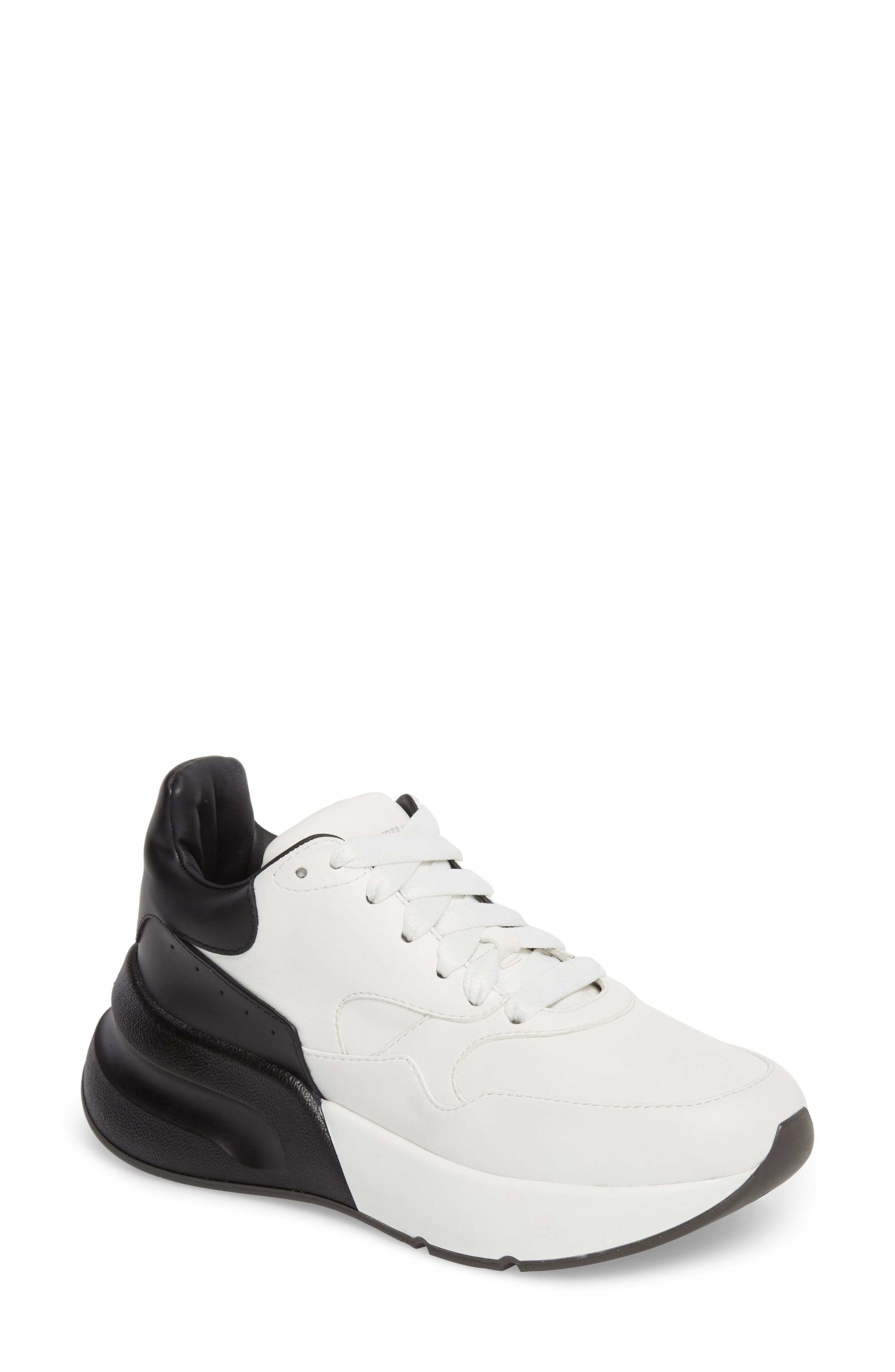 Alexander Mcqueen Oversized Lace-Up Sneaker, White