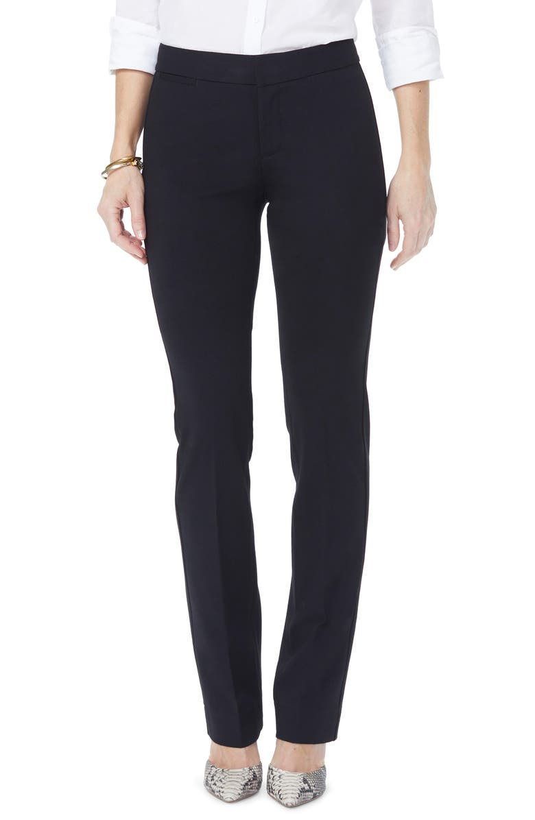 NYDJ Stretch Knit Trousers, Main, color, BLACK