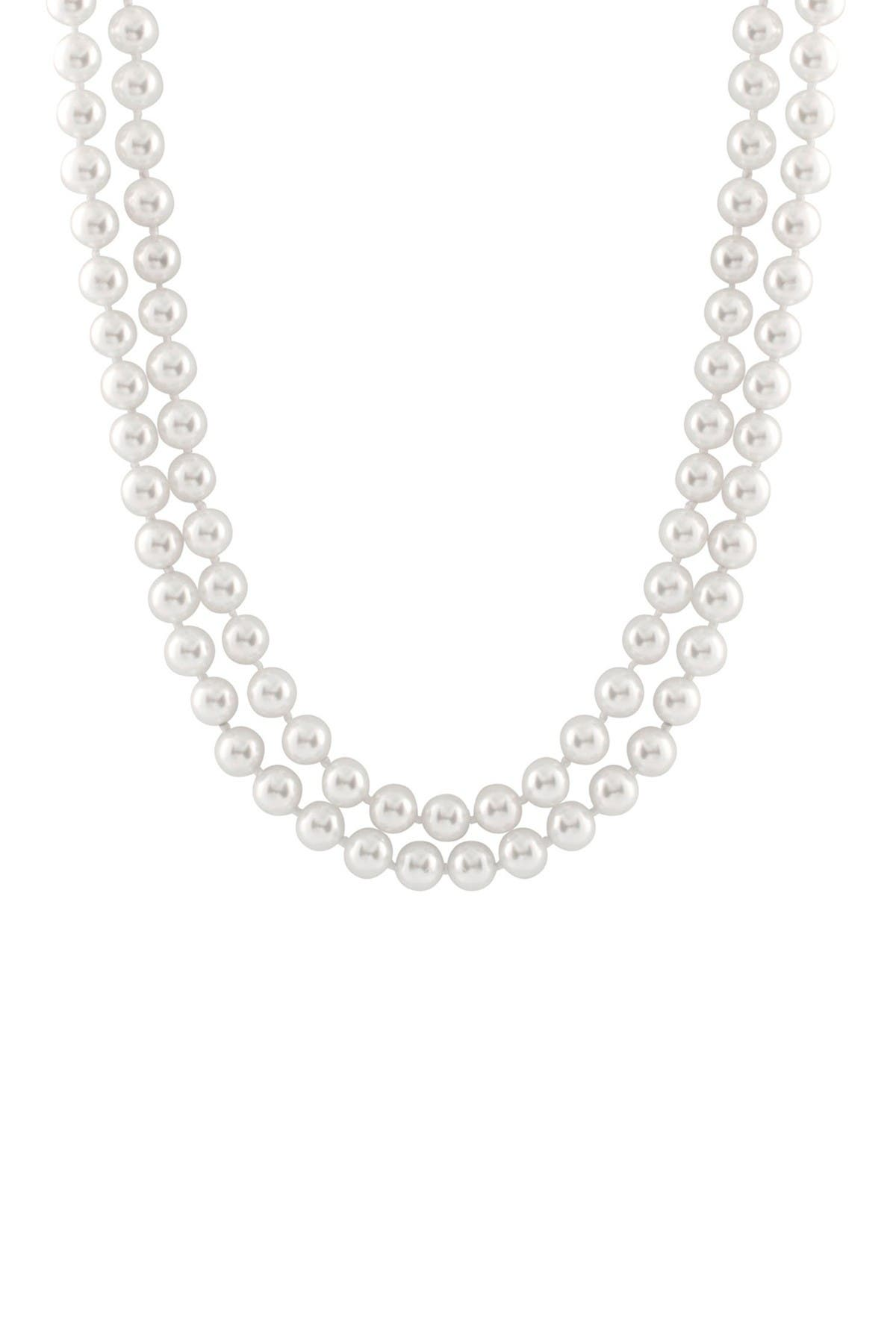 Image of Splendid Pearls Double Row Shell Pearl Necklace