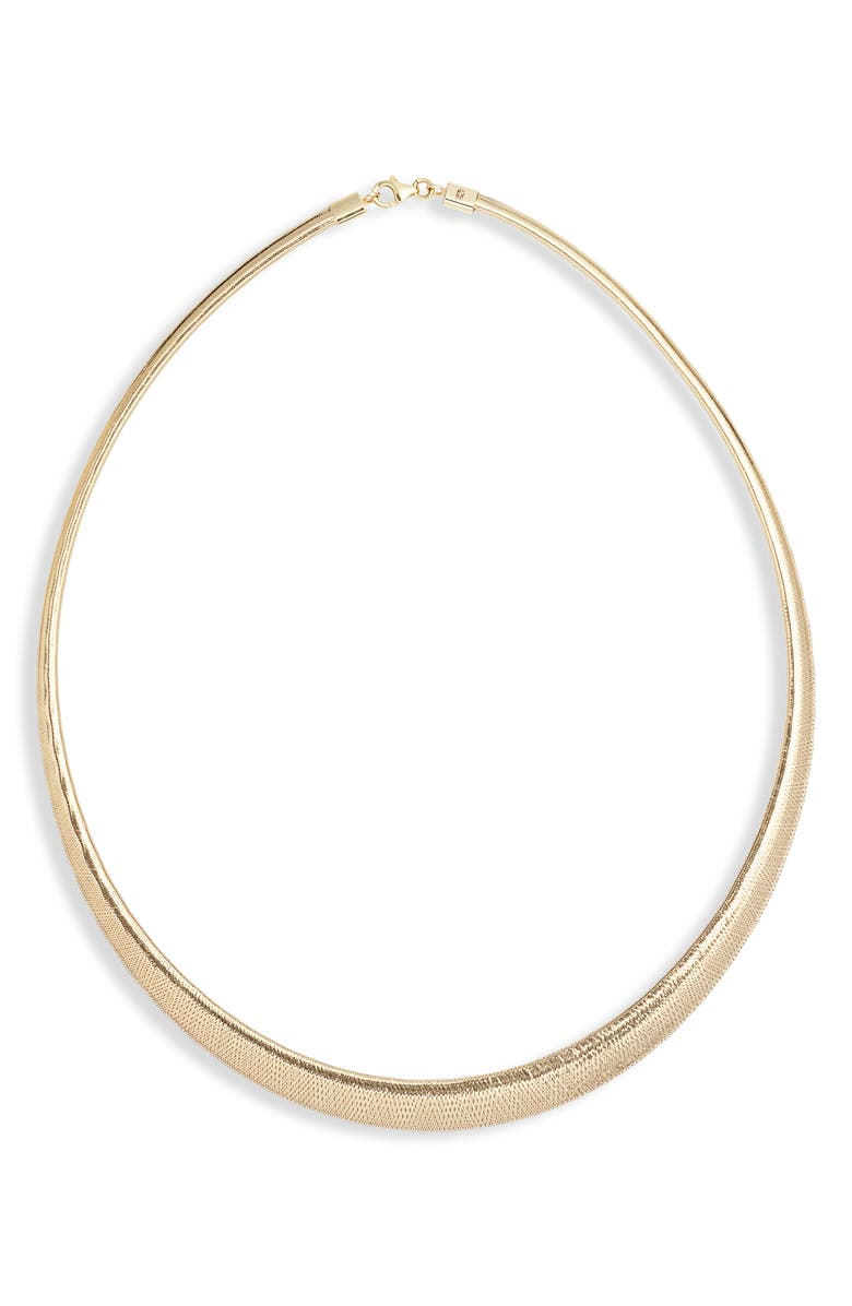 BONY LEVY Ofira Omega 14k Gold Mesh Collar Necklace, Main, color, YELLOW GOLD
