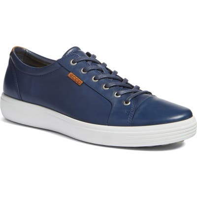 Ecco Soft Vii Lace-Up Sneaker - Blue