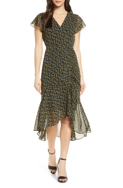 Image of Sam Edelman Side Ruched Chiffon Midi Dress