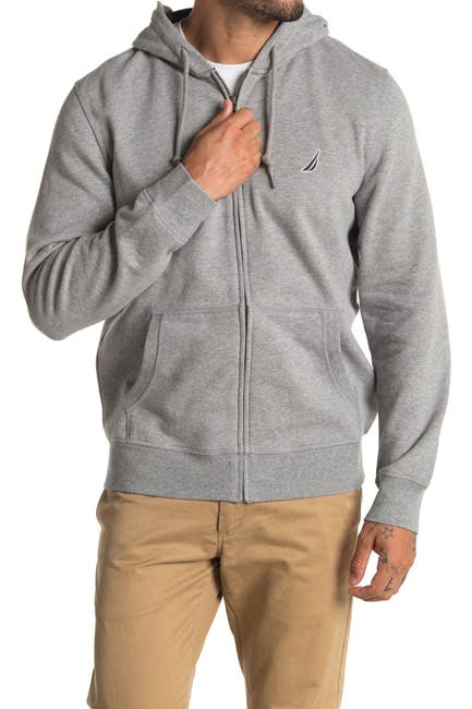 Image of Nautica Fleece Zip Front Hoodie