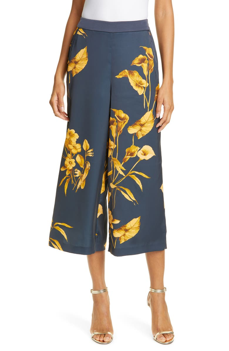 TED BAKER LONDON Tilliaa Fantasia Print Culottes, Main, color, 402