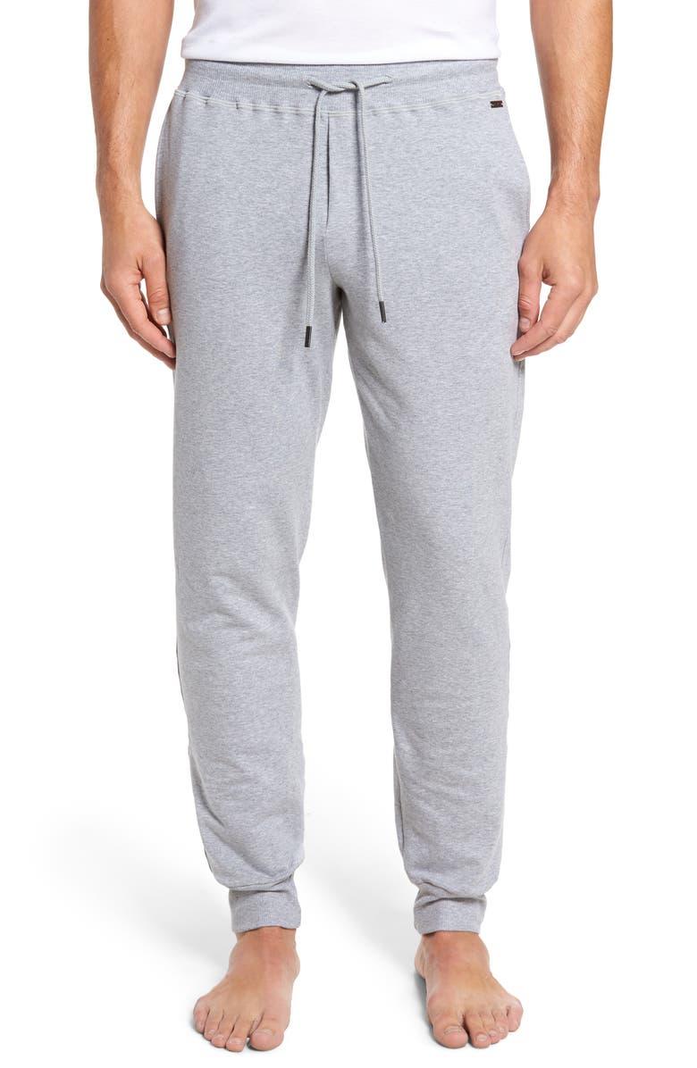 HANRO Living Lounge Pants, Main, color, GREY MELANGE
