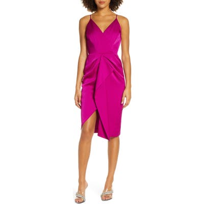 Harlyn Asymmetrical Sheath Dress, Purple