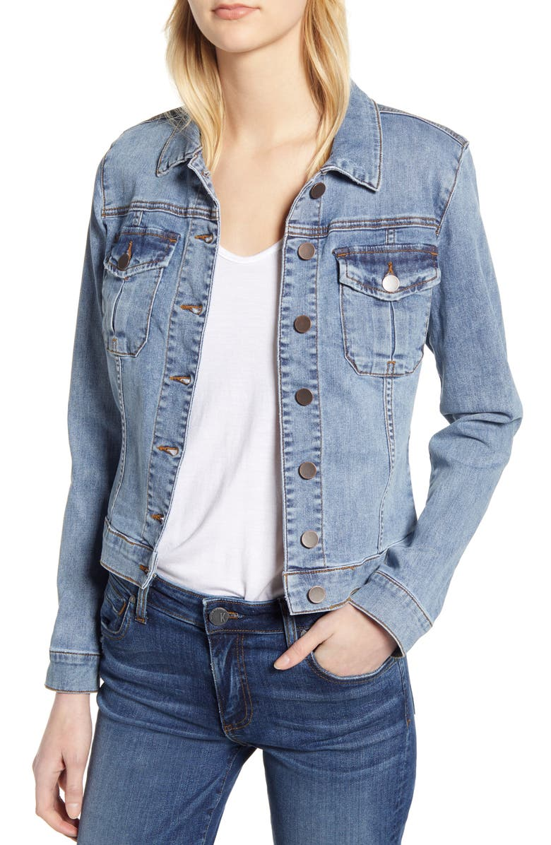 KUT FROM THE KLOTH Amelia Denim Jacket, Main, color, EASYGOING