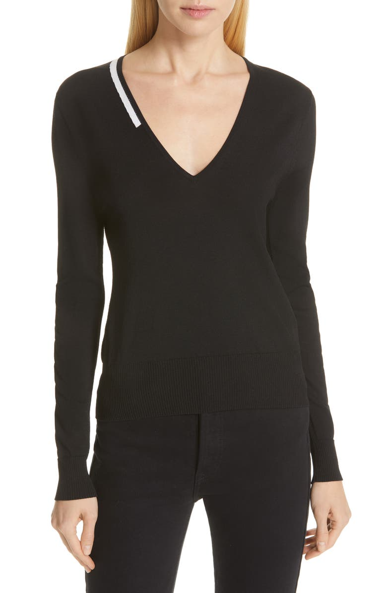 EQUIPMENT Demia V-Neck Sweater, Main, color, 001